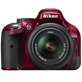 Nikon | D5200 Digital SLR Camera with 18-55mm Lens (Red) | 1507