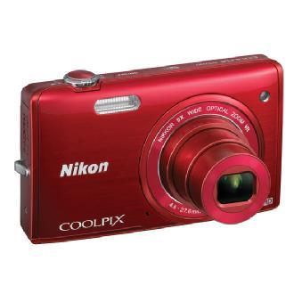 Nikon | COOLPIX S5200 Digital Camera (Red) | 26375