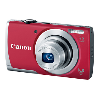 Canon | PowerShot A2500 Digital Camera (Red) | 8255B001