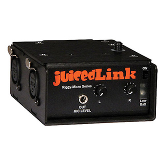 JuicedLink | Riggy-Micro Dual-XLR Preamplifier (No Phantom Power) | RM202