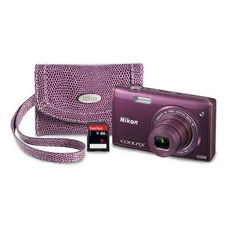 Nikon | COOLPIX S5200 Digital Camera Kit Plum | 13286