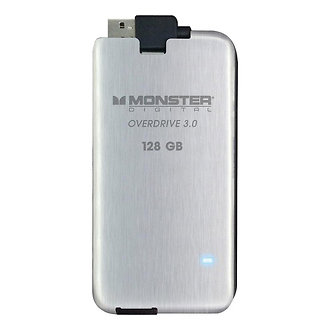 Monster Cable | 128GB Overdrive 3 Solid State Drive (USB 3.0) | SSDOU0128A