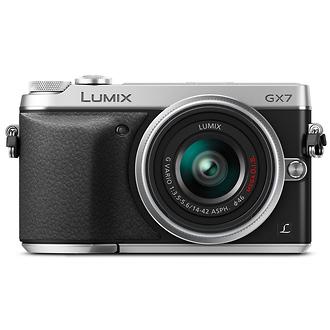 Panasonic | Lumix DMC-GX7 Digital Camera with G Vario 14-42mm Lens (Silver) | DMCGX7KS