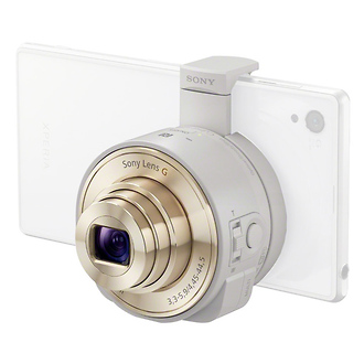 Sony | DSC-QX10 Smartphone Attachable Lens-style Camera (White) | DSCQX10W