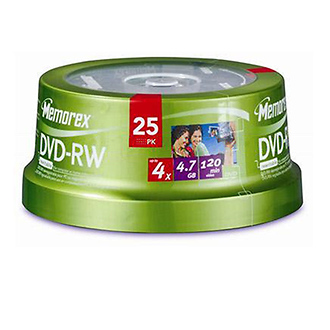 4X DVD-RW 4.7GB (25 Pack Spindle)