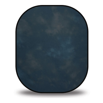 Westcott 5 x 6 Collapsible Illuminator Background - Storm Clouds / Gentian Blue