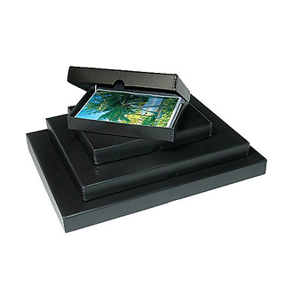 18x24 Clamshell Metal Edge Box - Black