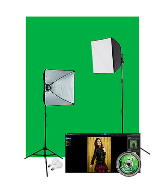 uLite Green Screen Photo Lighting Kit