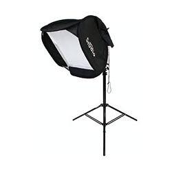 Softbox with Stand for Shoe Mount Flash