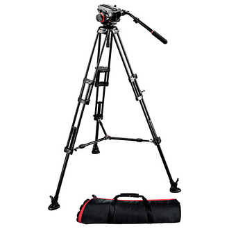 Manfrotto 504HD Fluid Head with 546B 2-Stage Aluminum Tripod Kit