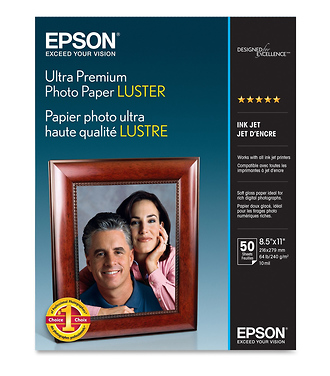 Epson | Ultra Premium Photo Paper Luster 8.5x11in. - 50 sheets | S041405