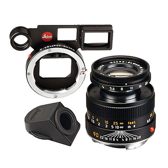 Leica | 90mm f/4 Macro-Elmar Lens Set (6-Bit, Black) | 11629