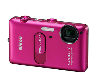 Coolpix S1200pj Digital Camera with Built-in Projector (Pink)