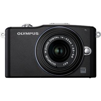 Olympus | E-PM1 Mini Pen Digital Camera (Black) with 14-42mm Lens | V206011BU000