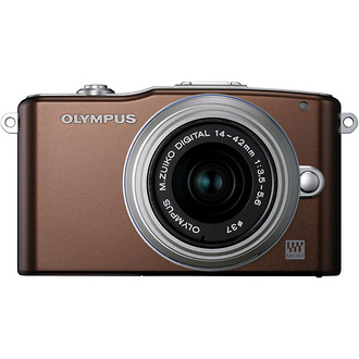 Olympus | E-PM1 Pen Mini Digital Camera (Brown) with 14-42mm Lens | V206011NU000