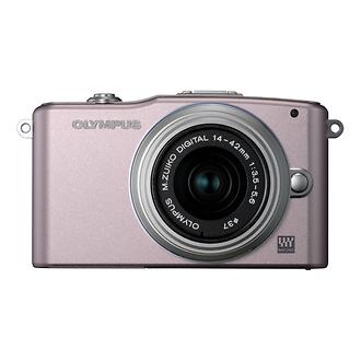 Olympus | E-PM1 Pen Mini Digital Camera (Pink) with 14-42mm Lens | V206011PU000
