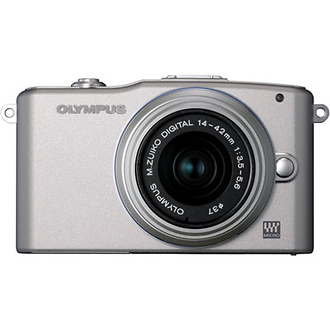 Olympus   E-PM1 Pen Mini Digital Camera (Silver) with 14-42mm Lens   V206011SU000