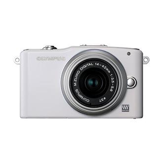 Olympus | E-PM1 Pen Mini Digital Camera (White) with 14-42mm Lens | V206011WU000