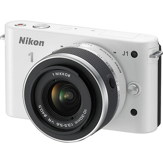 Nikon | 1 J1 Mirrorless Digital Camera with 10-30mm VR Lens (White) | 27528