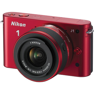 Nikon | 1 J1 Mirrorless Digital Camera with 10-30mm VR Lens (Red) | 27534