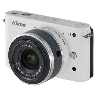 Nikon | 1 J1 Mirrorless Digital Camera with 10mm Lens & 10-30mm VR Lens (White) | 27561