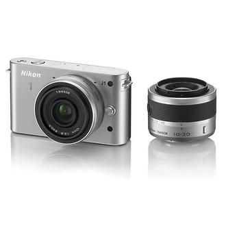 Nikon | 1 J1 Mirrorless Digital Camera with 10mm Lens & 10-30mm VR Lens (Silver) | 27565