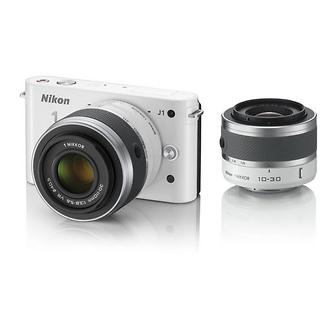 Nikon | 1 J1 Mirrorless Digital Camera with 30-110mm & 10-30mm VR Lens (White) | 27547