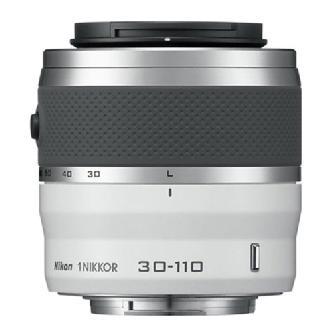 30-110mm f/3.8-5.6 1 Nikkor CX Format VR Lens (White)