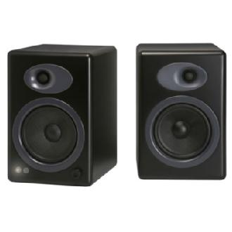 A5+ Premium Powered Bookshelf Speakers (Black)