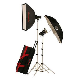 AKC640K 645w/s Basic Studio 2 Light Soft Box Kit