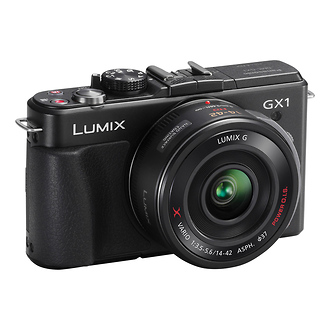 Panasonic | Lumix DMC-GX1 Digital Camera with 14-42mm G X Vario PZ Lens (Black) | DMCGX1XK