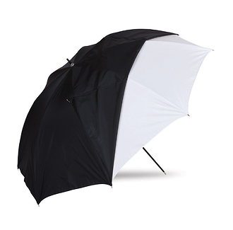 45in. Optical White Satin with Removable Black Cover Umbrella