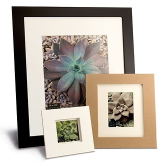 Framatic | Metro 18 x 24 Seamless Composite Wood Board Frame Matted for 13 x 19 (Black) | O1824BX63