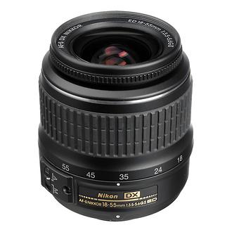 Nikon | 18-55mm f/3.5-5.6G ED II AF-S DX Wide-Angle Zoom Lens (Manufacturer Reconditioned) | 2170B