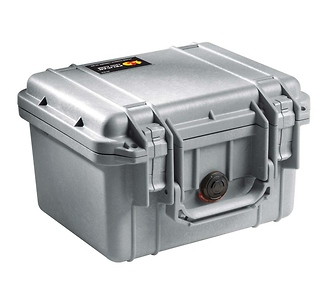 Pelican | 1300 Mini-D Watertight Hard Case - Silver | PC1300S