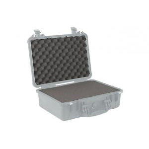 Pelican | 1500 Watertight Hard Case with Foam Insert - Silver | PC1500S