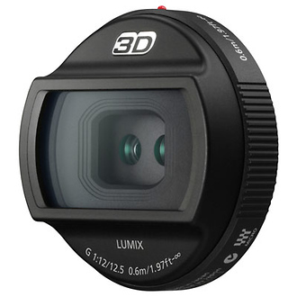 12.5mm f/12 Lumix 3D G Lens for Micro Four Thirds Mount Cameras