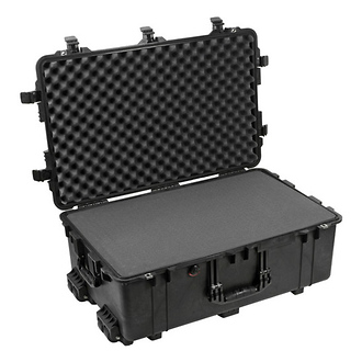 Pelican | 1650B Watertight Hard Case with Foam Inserts and Wheels - Black | PC1650B
