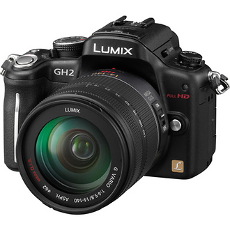 DMC-GH2 Digital SLR Camera with 14-140mm Lens (Black) - Open Box*