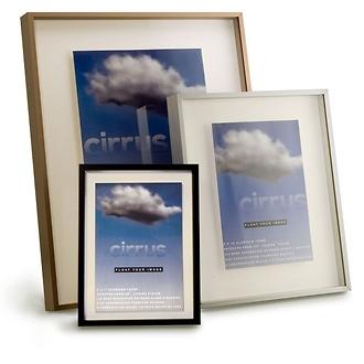 Framatic | 7 x 9 Cirrus Black Aluminum Frame with a 4 x 6 Single Mat | R0709BX46