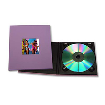 Tap Packaging Solutions CD Holder with 2x2 Front Cover Photo Window, Purple