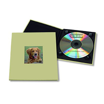 Tap Packaging Solutions CD Holder with 2x2 Front Cover Photo Window, Green