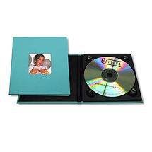 Tap Packaging Solutions CD Holder with 2x2 Front Cover Window - Aqua Blue