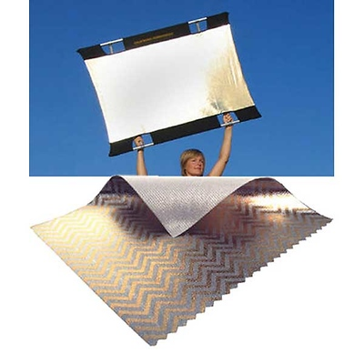 Sun-Bounce Mini 3' x 4' Zebra Gold - White with Frame, Screen & Bag Image 0