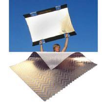 SunBounce Sun-Bounce Mini 3' x 4' Zebra Gold - White with Frame, Screen & Bag