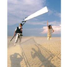 SunBounce Sun-Swatter Pro 4' x 6' Kit: Frame and Screen withTranslucent 1/3 Seamless Fabric