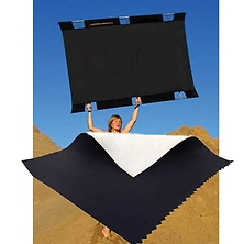 Sun-Bounce Pro 4' x 6' Black - Soft White with Frame, Screen & Bag Image 0