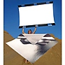 Sun-Bounce Pro 4' x 6' Silver,  White with Frame, Screen & Bag