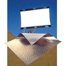 Sun-Bounce Pro 4' x 6' Zebra - White with Frame, Screen & Bag Image 0