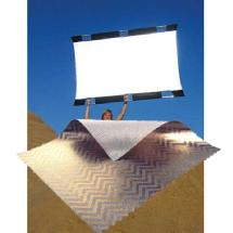 SunBounce Sun-Bounce Pro 4' x 6' Zebra - White with Frame, Screen & Bag
